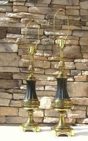 Stiffel Brass Lamps Ebay by Ebay 289 Pair Vintage Cut Glass Crystal Brass Stiffel Lamps