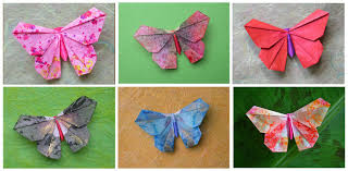 Decorating Paper To Fold Butterflies