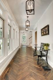 entry decor ideas transitional with wood bench