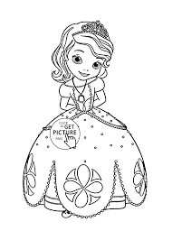 Princess Sofia Coloring Page For Kids Disney Girls Pages Printables Free