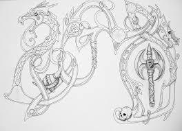 Viking Tattoo Design By Zaza Art