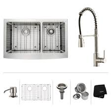 Kraus Faucet Home Depot by Stainless Steel Kitchen Sink Combination Kraususa Com
