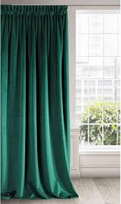 eurofirany vorhang velvet dunkelgrün samt 1 stk weich kräuselband edel hochwertig schlafzimmer wohnzimmer lounge stoff dunkel grün