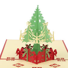 3d Handmade Christmas Greeting Card Jingle Bell Pop Up Invitation