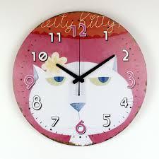 horloge chambre bébé de bande dessinée décoratif horloge murale sûr et silencieux