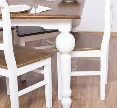 casa padrino landhausstil esszimmer möbel set braun weiß 1 esstisch 8 esszimmerstühle massivholz esszimmer möbel landhausstil möbel