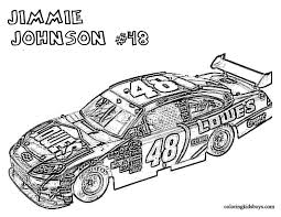 Coloring Pages Cool Car Nascar Free