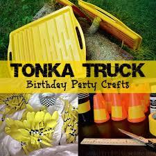 99 Truck Birthday Party Tonka Crafts Bathroom Essentials