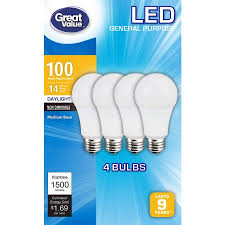 great value led light bulbs 14w 100w equivalent daylight 4