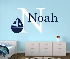personalisierte name nautischen baby room decor wandaufkleber anker wandtattoo für jungen schlafzimmer nursery wandtattoos wandbild boot kunst