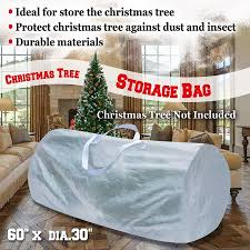 Heavy Duty Large Artificial Christmas Tree Storage Bag For Clean Up Holiday White To 9ft