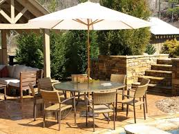 7 Piece Patio Dining Set With Umbrella by Patio 65 Outdoor Patio Dining Sets N 5yc1vzbxdl Bolingbrook 7