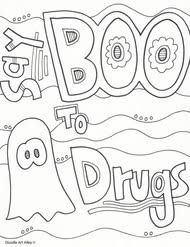 Say Boo To Drugs Coloring Page