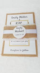 100 Wedding Invitations Rustic Country Style Burlap Lace Belly Band Envelopes Response Cards Set