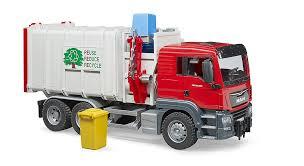 100 Bruder Logging Truck MAN TGS Side Loading Garbage Truck Franc Jeu Rosemere
