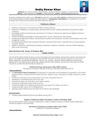 Resume Example International Experience Combined With Mechanical Technician For Produce Perfect
