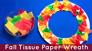 Fall Tissue Paper Wreath Preschool And Kindergarten Art Project
