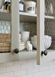 Chicken Wire Cabinet Doors Farmhouse Kitchen Decor