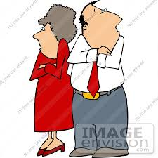 Angry Couple With Crossed Arms Clipart by DJArt