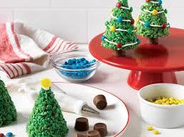 Marshmallow Krispie Christmas Trees