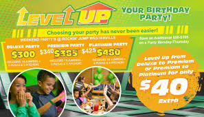 Level Up Your Birthday Party—Save Up To $105 On Our Birthday ... Rockin Jump Brittain Resorts Hotels Coupons For Helium Trampoline Park Simply Drses Coupon Codes Funky Polkadot Giraffe Family Fun At Orange County Level Up Your Birthday Partysave To 105 On Our Atlanta Parent Magazines Town Center Now Rockin And Jumpin Trampoline Park Bidesign Coupon Codes February 122 Book A Party Free 30days Circustrix Purveyors Of Awesome
