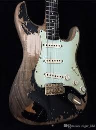 Custom Shop John Mayer Strat Limited Edition Black 1 Cruz Masterbuilt Heavy Relic Electric Guitar Aged Hardware Nitrolacquer Paint