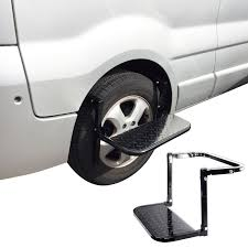 Details About Adjustable Steel Folding Tyre Step Up For Car Truck Van Jeep  RV 4x4 Caravan