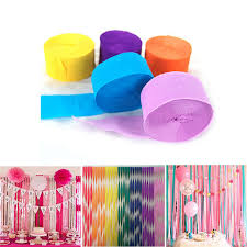 10m5cm Crepe Paper Streamer Roll Diy Photography Backdrops Wedding Supplies Birthday Party Decorations Background