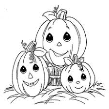 Coloring Pages Of Halloween Pumpkin Family