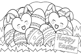 Happy Easter Coloring Pages Coloringsuite Fun Time Inside