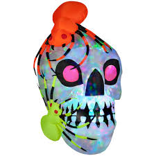 Gemmy Halloween Inflatable Dragon by Gemmy Airblown Light Show Skull With Spiders Kaleidoscope