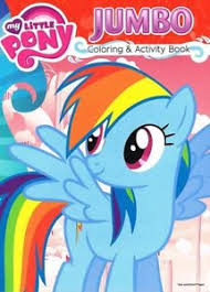 Image Is Loading My Little Pony Jumbo 96 Pg Coloring And