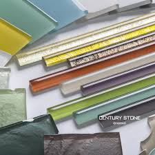 colorful glass liner pencil tile for bathroom wall border