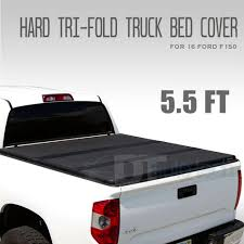 100 F 150 Truck Bed Cover Aluminum Hard Triold Tonneau Or 20042019 Ord 55ft