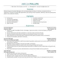 Sample Resume Objective For Restaurant Manager Example Nice With Hotel Manag
