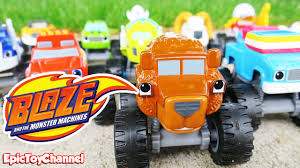 BLAZE AND THE MONSTER MACHINES Race + Grizzly Bear Truck A Blaze ...