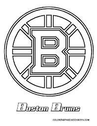 Printable Blackhawks Pumpkin Stencil by Bruins Coloring Page Teaching Ideas Pinterest