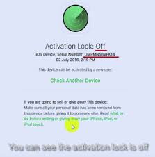 Report Removed Activation Lock website may have facilitated