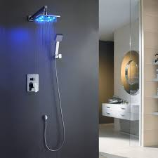 remarkable wall mounted waterfall shower heads with led