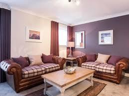 The Botanist Apartment Formerly Named Parkgate Residence Edinburgh Tartan And Leather Sofas In Living