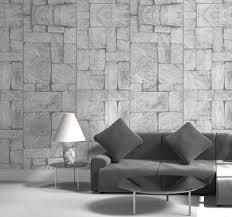 steineffekt graue steintapete