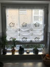 scheibengardine hängegardine gardine küche weiß grau