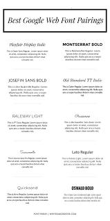 Best Google Web Font Pairings Typography Free Fonts Blog Design
