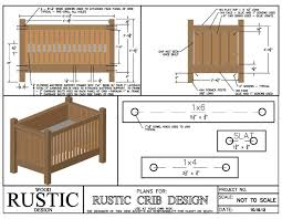 rustic homemade wooden baby crib plans blueprints baby baby