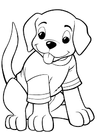 Dog In House Coloring Page Printable And