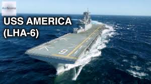 Uss America Sinking Location by Us Navy U0027s Newest Compact Aircraft Carrier Uss America Youtube