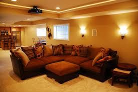 living room brilliant dark brown sectional sofa presented below
