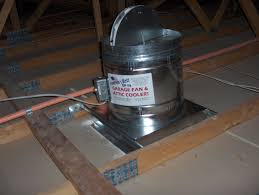Install Bathroom Vent No Attic Access by The Gf 14 Garage Fan And Attic Cooler Buy Direct
