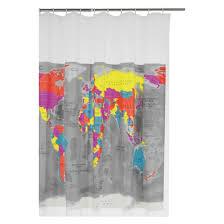 MAPPA World map shower curtain