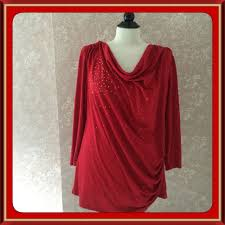 beaded red tunic top avon womens large l avon tunic